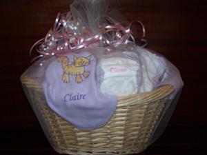 canastas de pañales para baby shower
