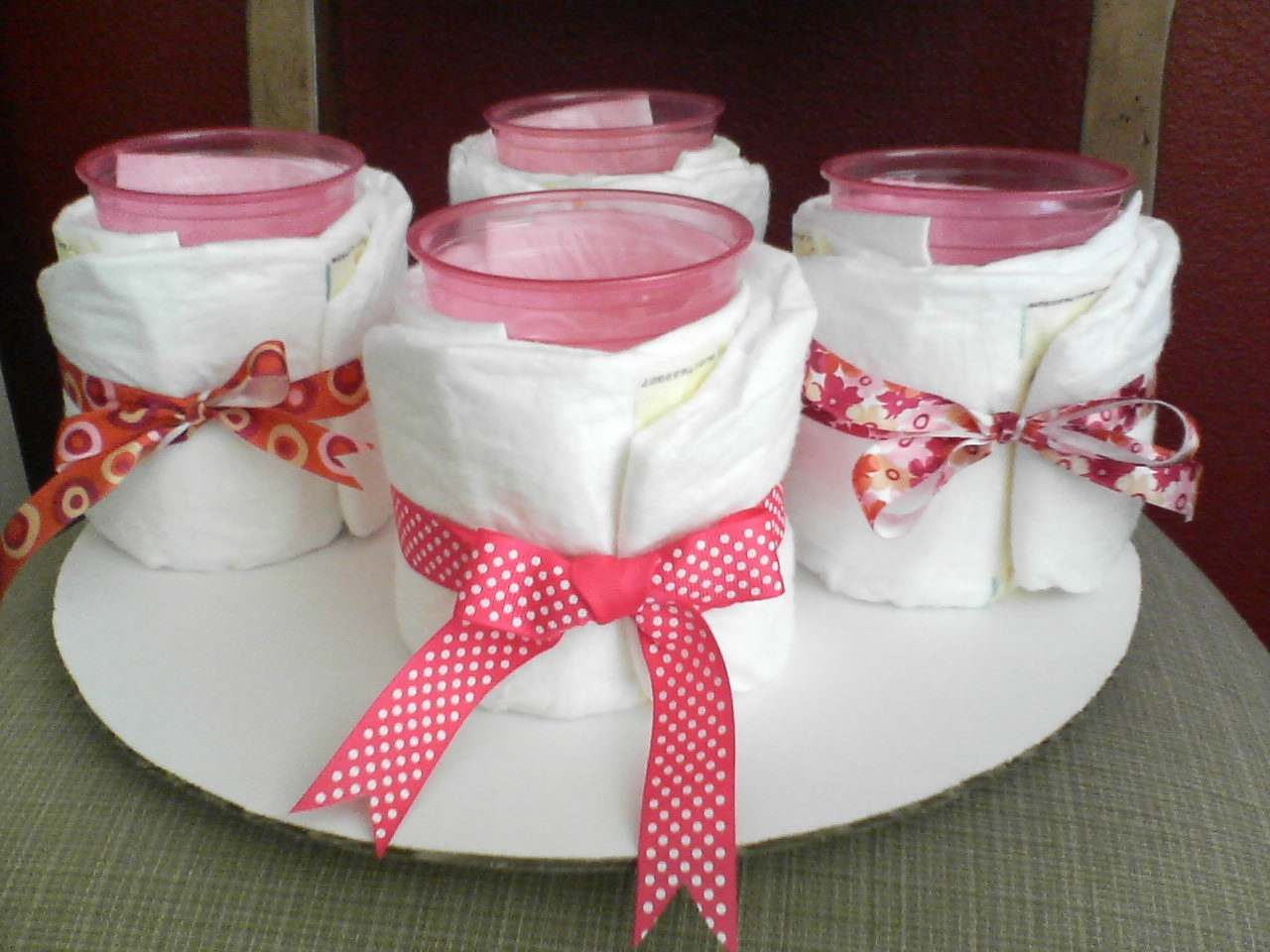 Centros de mesa sencillos para un baby shower for Centro de mesa baby shower