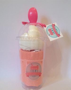 malteadas de pañales para centro de mesa y regalo de baby shower