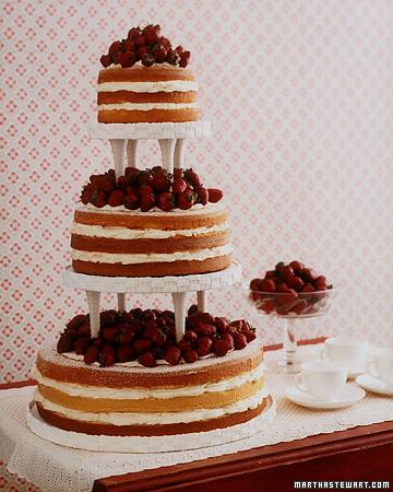 Torta de bodas con fresas