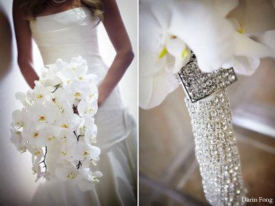 ramo de bodas con lentejuelas