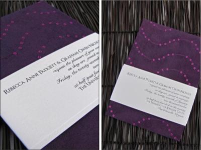 invitacionde boda con lentejuelas