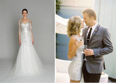 decoraciones de vestidos de novia con lentejuelas
