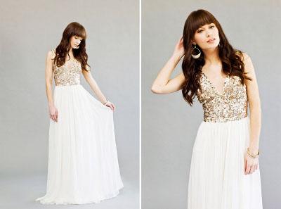 vestido de dama ade honor con lentejuelas