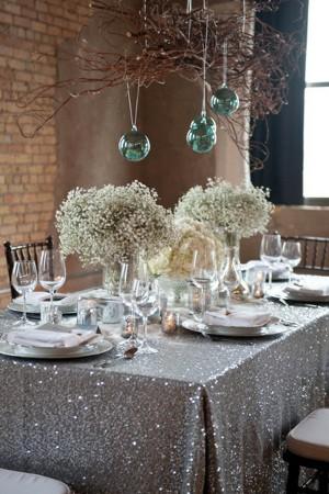 decoraciones de bodas con lentejuelas