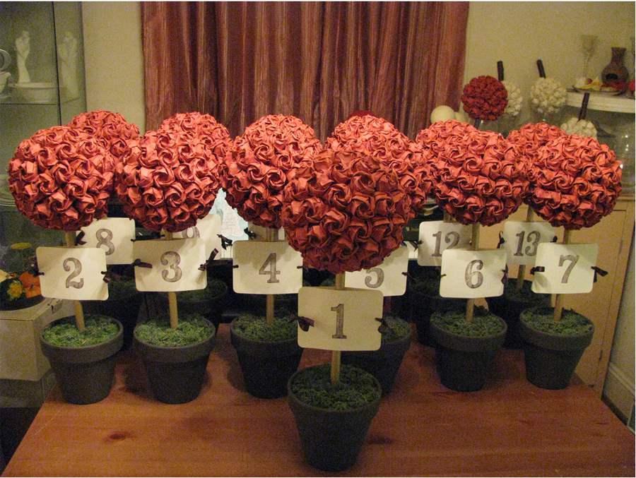 Origami Decoracion De Mesa ~   si el ramo de la boda est? hecho con flores naturales o de papel
