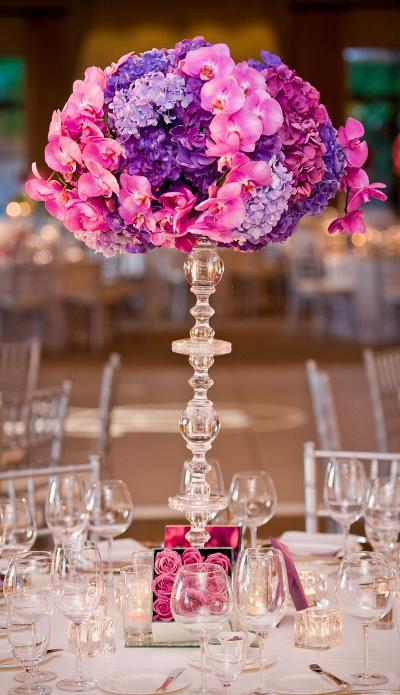 Centros de mesa con bases de acr lico para bodas for Bases para mesas de centro