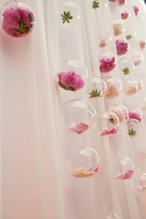 centros de mesa con bolas colgantes de cristal la caleñita