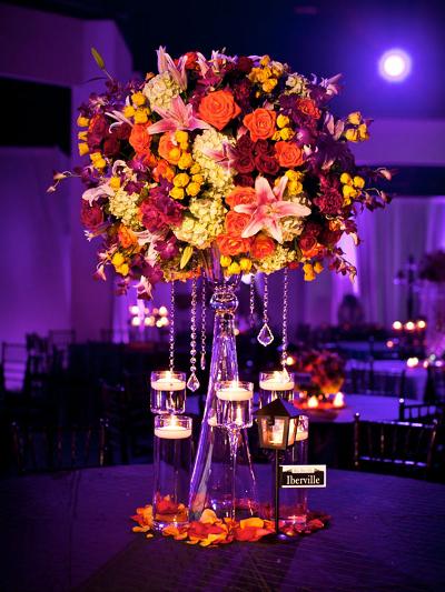 centros de mesa para bodas hechos con jarrones de dos caras la calenita
