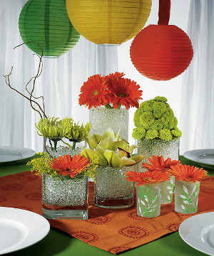 centros de mesa con perlas de agua fioribella colombia