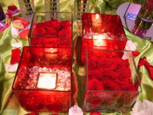 Centros de mesa sumergidos en agua glores boda car - Mesas de centro de cristal ...