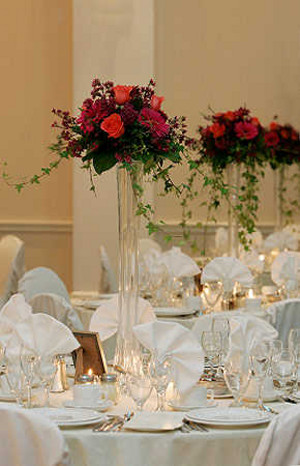 centros de mesa con floreros torreo eiffel la caleita