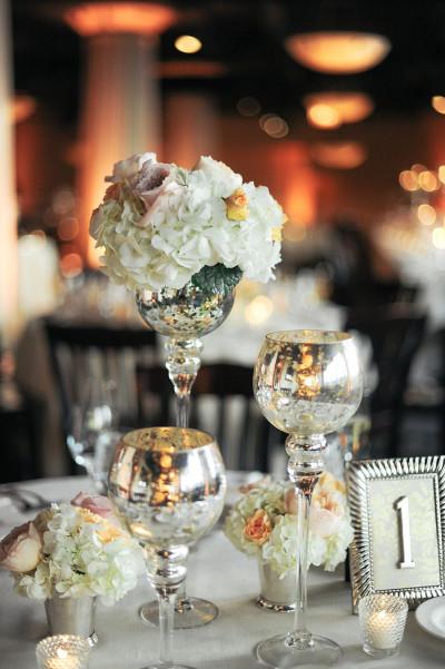 Centros de mesa con jarrones de vidrio de mercurio for Centro de mesa de cristal