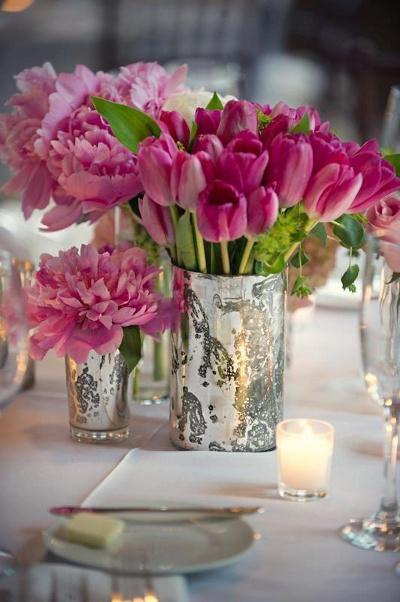 jarrones de vidrio de mercurio para centros de mesa la caleñita