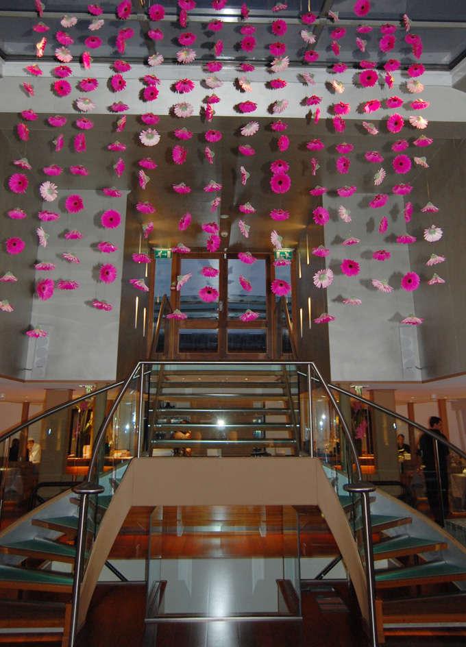 cortinas de flores para bodas