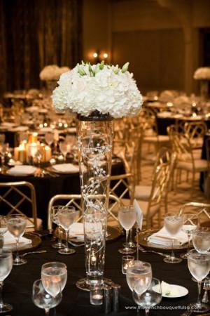 centros de mesa decorados con perlas