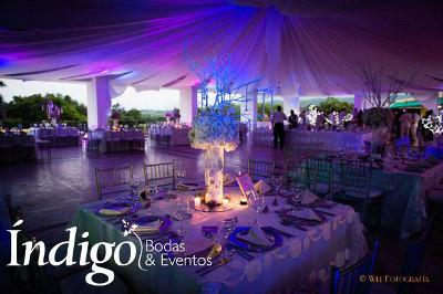 decoracion fiesta de 15 indigo bodas
