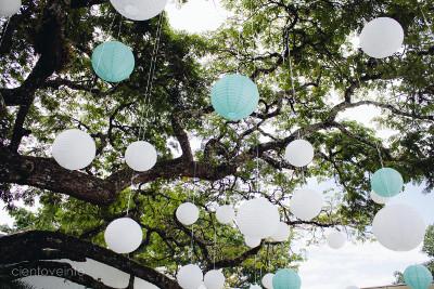 Los globos chinos también se pueden utilizar para crear una ruta de acceso a lugares de la boda al aire libre o a lo largo del camino de entrada.