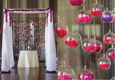 7 decoraciones con globos de cristal colgantes