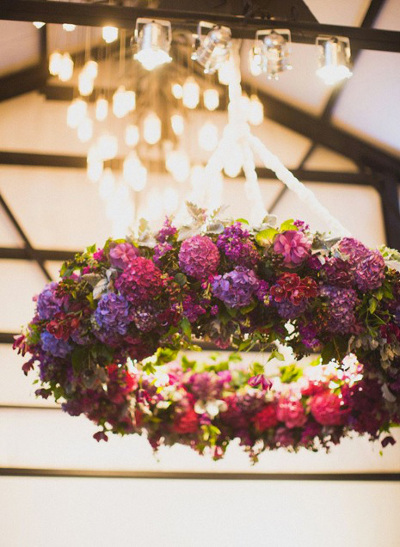 tendencias en bodas 2014  guirnaldas colgantes