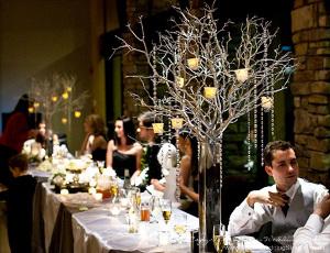 Tendencia en bodas decoraci n con guirnaldas de cristal - Ramas de arbol para decoracion ...