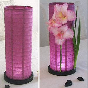 Faroles de papel como centros de mesa directorio de bodas - Decoracion de lamparas de papel ...