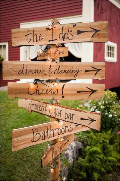 decoración de bodas con señalizaciones