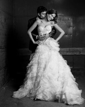 Foto de boda estilo revista de moda