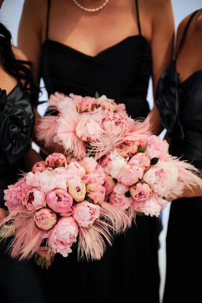 tendencias en bodas 2015 con decoracion de plumas