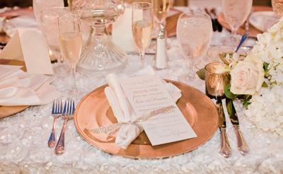 tematica de cobre tendencias en bodas 2015