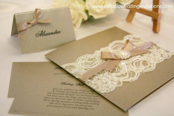 Vintage Handmade Wedding Invitations: Tendencia En Bodas 2012: Encajes Vol. 1