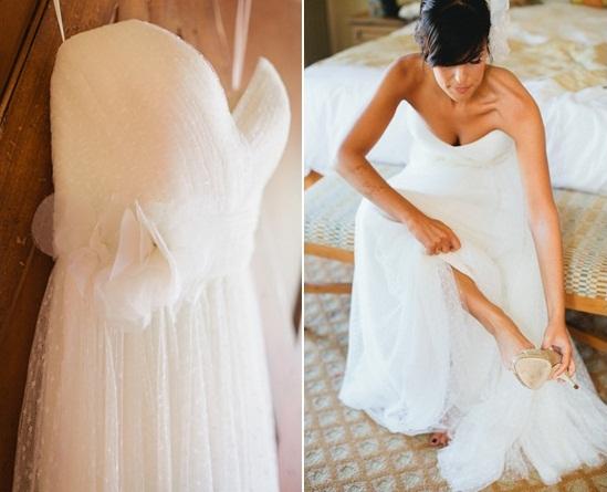 vestido de novia con lunares