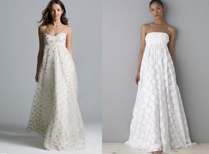 vestdidos de novia decorados con lunares