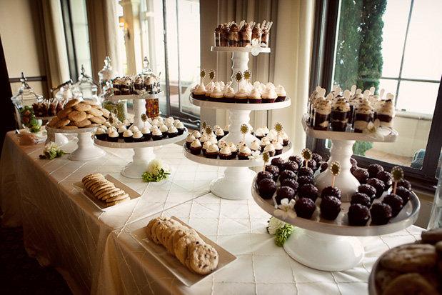 Ideas para mesas de postres for Mesas de dulces para bodas precios