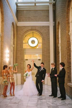tendencia en bodas 2013 vestidos de damas de honor con lentejuelas