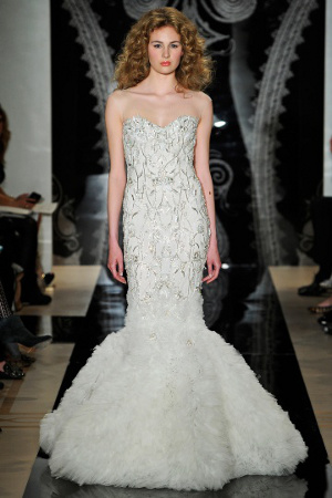 tendencias en vestidos de novia 2013 encajes metalizados