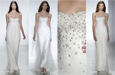 tendencias en vestidos de novia 2013 - 2014 con tul brillante