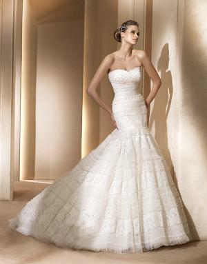 tendencia en vestidos de novia 2013 faldas en capas