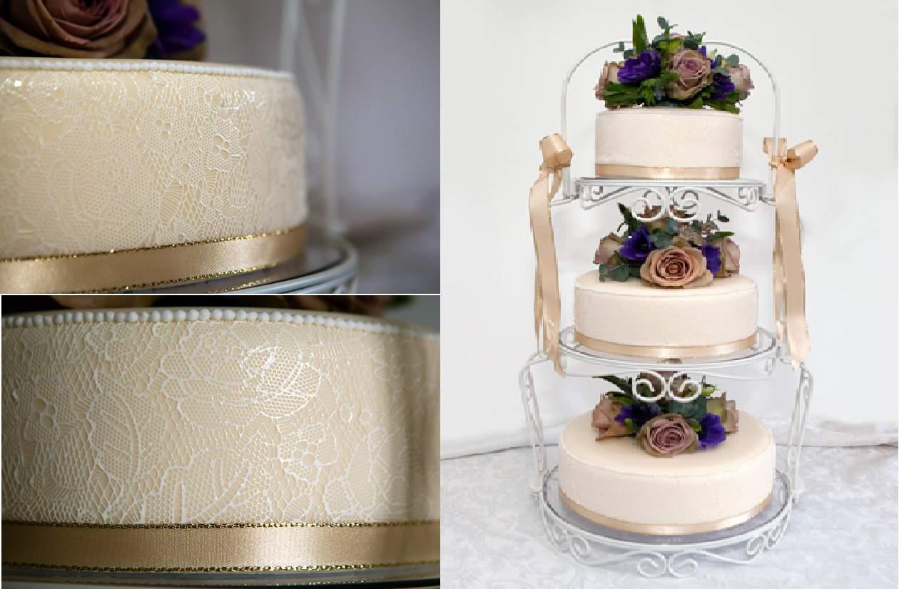 Tendencias en bodas 2012 tortas con cintas de encaje - Cintas para decorar ...