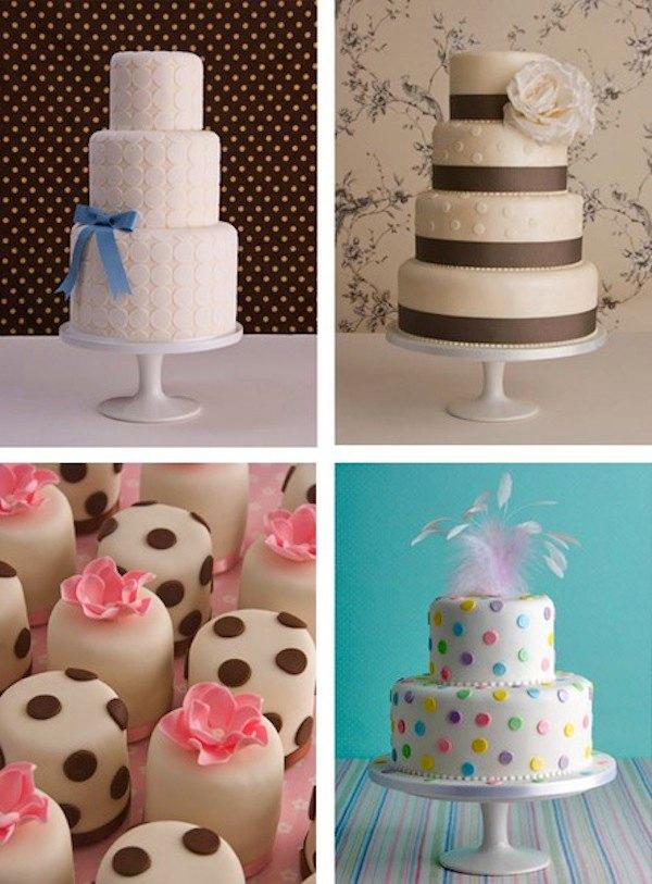 tortas de bodas decoradas con lunares