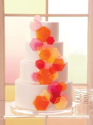 tortas para bodas diseños geometricos