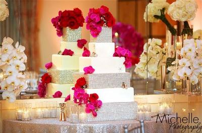 bases de tortas para bodas con cristales la caleñita