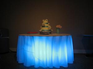 Decora con luces la mesa de la torta bodas directorio de for Luces led para decorar