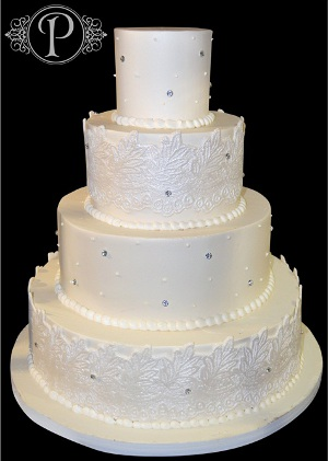 tendencias en bodas 2013 tortas vintage con decoraciones de apliques de cristales
