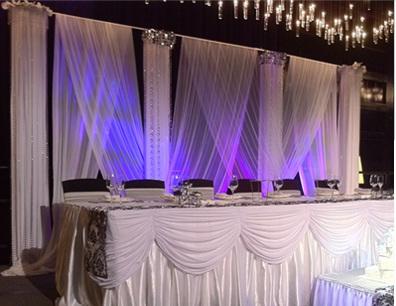 decoracion boda con velos arabes