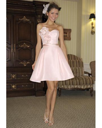 Vestidos de novia cortos y de color