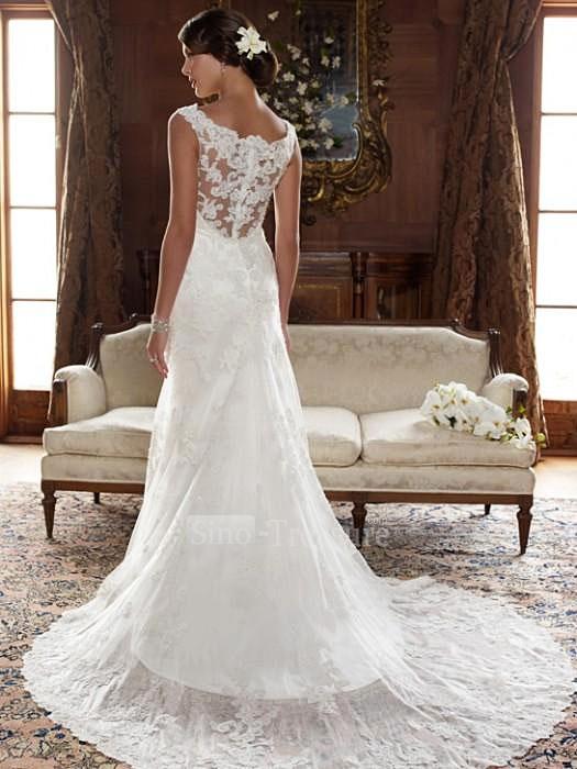 24a479ed62 vestidos de novia primavera 2013 con escote en la espalda y cubierta con  encaje