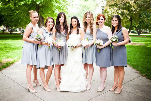 Vestidos de damas de honor con diferentes estilos