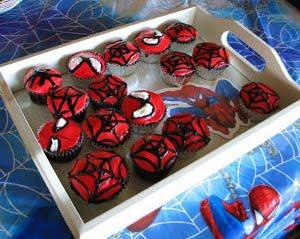 cupcakes fiesta hombre araña
