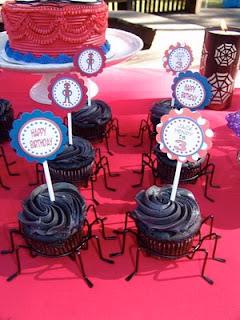 cupcakes con forma de araña